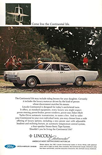 Buy Print Ad 1966 Lincoln Continental America's Most Distinguished Motor Car
