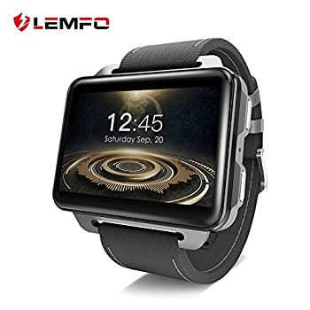 LEMFO LEM4 PRO Smart Watch Phone 2.2 Inch Big Screen GPS/Heart Rate Sport Tracker Monitor/Pedometer for Android iOS with SIM Card Slot - Black