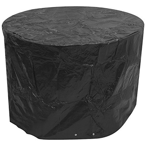 Woodside Black Small Round Outdoor Garden Patio Furniture Set Cover 1.42m x 0.96m / 4.7ft x 3.2ft
