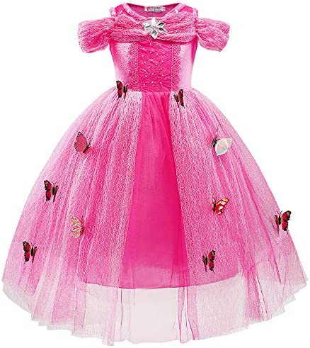 Ecparty Princess Costumes Dress for Your Little Girls Dress up 3T Cinderella Dress Pink product image