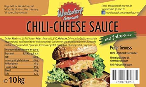 Walsdorf Gourmet Chili-Cheese Sauce – Käsesauce – Nacho Sauce – Burgersauce – Käse Dip (1 x 10kg Eimer)