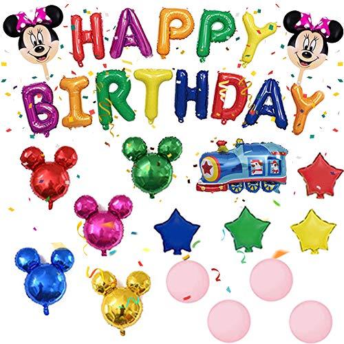 Globo de Mickey, NALCY Decoraciones de Cumpleaños de Mickey Mouse, Globos Tipo Minnie y Minnie Mouse, Artículos de Fiesta de Mickey y Minnie, para la Fiesta Temática de Mickey Mouse (29 Pcs)