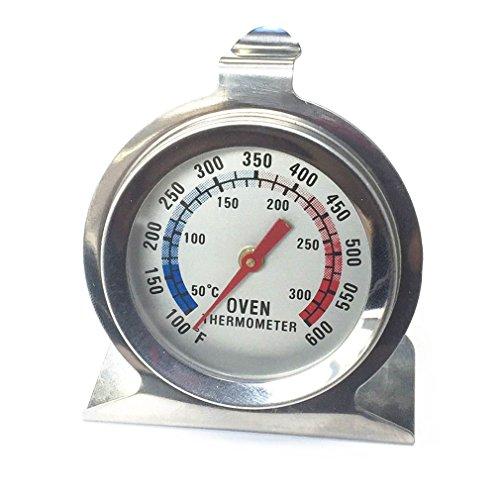 Qiorange Edelstahl Ofenthermometer Temperatur Gauge 50°C bis 300 °C / 100°F bis 600°F
