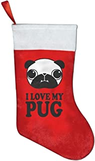 YISHOW I Love My Pug Christmas Stocking Festival Party Ornaments