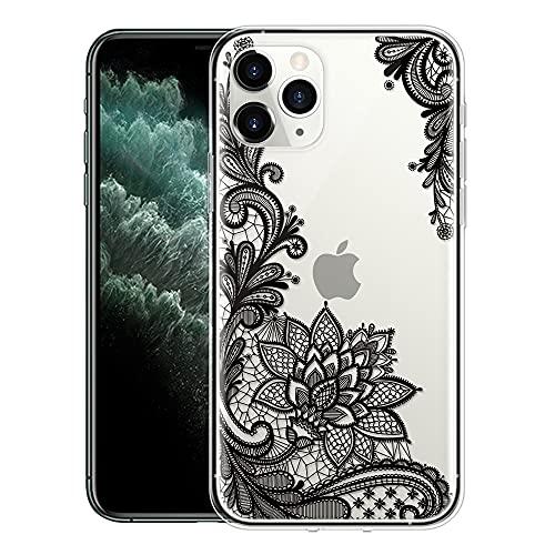 ZhuoFan Per Apple iPhone 13 PRO, Sottile Clear Trasparente Back Bumper Cover Silicone con Print Pattern Antiurto Shockproof Protettiva Phone Case per iPhone 13 PRO 6,1 Pollice Smartphone, 06