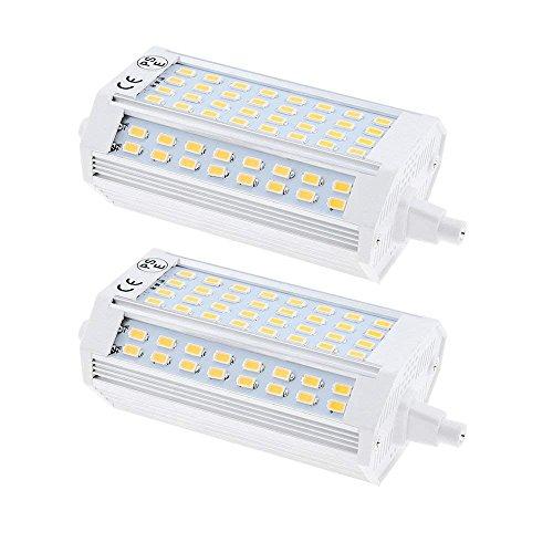 Bonlux 25W R7S LED Lampe 118MM Flutlicht Warmweiß 3000K 220V Stablampe 200 Grad zweiseitige Enden Einbauleuchten J118 Typ Ersatz für Halogenbirne (2-Stück, Nicht Dimmbar)