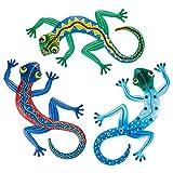 Xinstroe - Juego de 3 adornos de metal para decoración de pared, diseño inspirador, decoración...