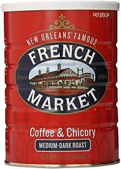 French Market Medium-Dark Roast Ground Coffee, 12 Ounce