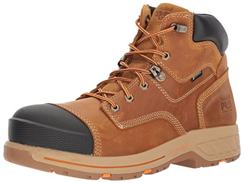 """Timberland PRO Men's Helix HD 6"""" Composite Toe Waterproof Industrial & Construction Shoe, Distressed Wheat Full Grain Leather, 10 Wide"""