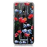 CASEiLIKE® Coque Nokia 6.1 Plus, Aquarelle Floral 2234, TPU Silicone Soft Housse Etui Coque pour...