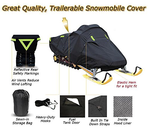 Trailerable Snowmobile Snow Machine Sled Cover ARCTIC CAT ZR 6000 RS 129 2017