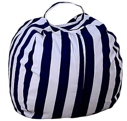 ALASON Bolsa de Lona Organizador de Puf para Almacenamiento para Juegos de Peluche de Animales Bean Bag Cubierta de Asiento de sofá para niños,18,26 Inch