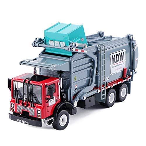 Skwenp Müllwagen Simulation Legierung Druckguss Spielzeugauto Modell 1:24 Engineering Car Collection Materialtransport Fahrzeug Materialtransport Fahrzeuglegierung Simulation Legierung Engineering Fah