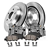 Callahan CCK11435 REAR OE [2] Calipers + [2] 6 Lug Rotors + Quiet Low Dust [4] Ceramic Pad...