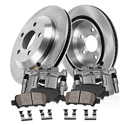 CCK02603 [2] REAR Original Remanufactured Calipers + [2] OE Rotors + [4] Low Dust Ceramic Brake Pads