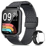 AooDen Smartwatch Uomo Donna, 1.69' Orologio Fitness, Smart Watch IP68, 24 Modalità Sportive SpO2 Cardiofrequenzimetro Contapassi Calorie Notifiche Intelligente Activity Tracker per Android iOS Nero