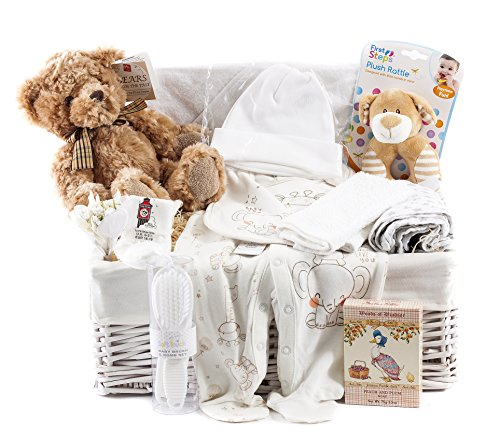 Wickers Just For Baby Deluxe Hamper - NEUTRAL   Wickers Gift Baskets