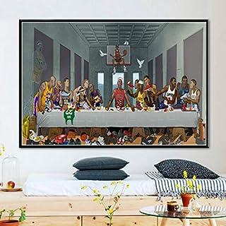 EBONP Quadro su Tela Pittura Decorativa Arte Quadro su Tela Stampa HD Immagine Ultima Cena Poster Soggiorno Decorazioni per la casa Ges/ù Wall Art Senza cornice-20x28inch