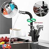 Küchenarmatur Pull Down Mixer Waschbecken Wasserhahn Pull Out Spray Einhebel 360 ° Drehung...