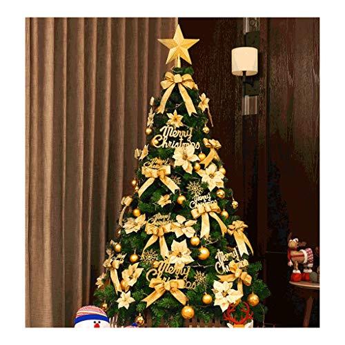 WUHE Conjunto de Navidad Artificial de Oro del árbol de Navidad for decoración Interior, con luz LED y Soporte/Accesorios, Multi-tamaño, fácil de Montar (tamaño : 240cm/7.8 ft)