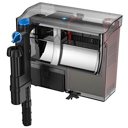 SunSun Filtre Suspendu CBG-500 Hang on Filter 500 l/h pour Aquariums Jusqu'à 115 l avec UVC