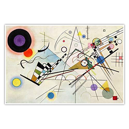 CanvasArts Komposition VIII 8 Wassily Kandinsky - Poster (120 x 80 cm, Poster)