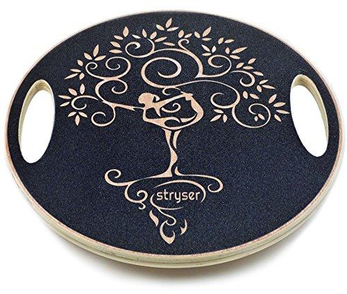 Stryser Tavola Pedana propriocettiva di Equilibrio di Legno, Balance Board Fitness Esercizio Coordinamento Diametro 39,5 cm