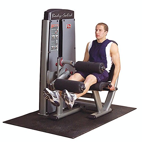 Body-Solid DLEC-SF Pro Clubline Pro Dual Leg Extension and Curl Machine with Self-Adjusting Leg Pad and Adjustable Thigh