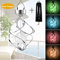 Amwgimi Hanging Solar Outdoor Wind Chimes Led Lights
