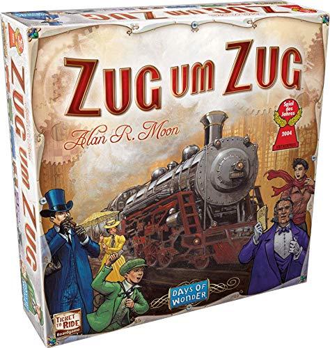 "Asmodee - Gioco in scatola ""Days of Wonder - Zug um Zug"", [istruzioni in lingua tedesca] - Lingua Tedesca"