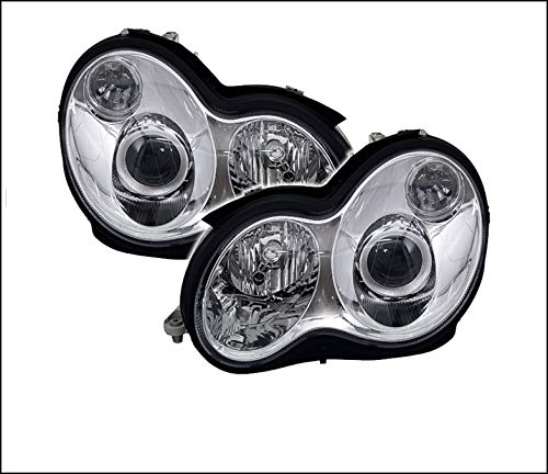 V-MAXZONE VP153 Jeu de phares en verre transparent chromé pour droitier
