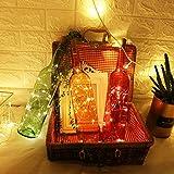 6 Stück LED Flaschenlicht, Sanniu 20 LEDs 2M Lichterkette Kupferdraht batteriebetriebene Weinflasche Lichter mit Kork Schnurlicht für DIY Deko Weihnachten Party Urlaub Stimmungslichter (Warmweiß) - 3