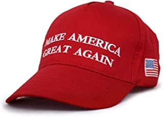 Trump Make America Great Again 2016 Red Quality Embroided Adjustable Cap Hat (One size)