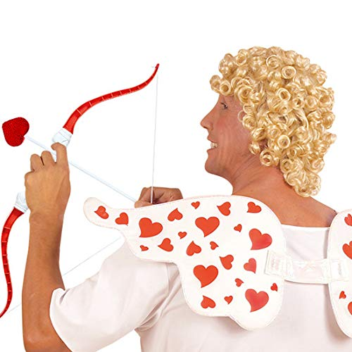 Peluca de hombre dios del amor con rizos / Rubio / Peluca de ángel con rizos adecuada igualmente para estrella de show y cantante / El centro de las miradas para carnaval y fiesta de disfraces