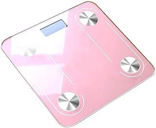 HYY-YY Báscula de pesaje Bluetooth, báscula de grasa corporal, báscula electrónica inteligente, LED digital, Bmi, equilibrio de peso, báscula de baño, 180 kg, color rosa