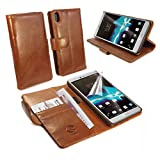 TUFF LUV Vintage Leather Wallet Case Cover With Stand