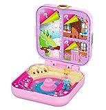 Polly Pocket Coffret Secret La Fabrique à Bonbons avec mini-figurine, surprises, 3 accessoires et autocollants, jouet enfant, édition 2020, GKV11