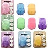 10 Boxen Einweg Papier Seife mit Kunststoffbox und Komprimiertes Handtuch 200 Tabletten Tragbare...