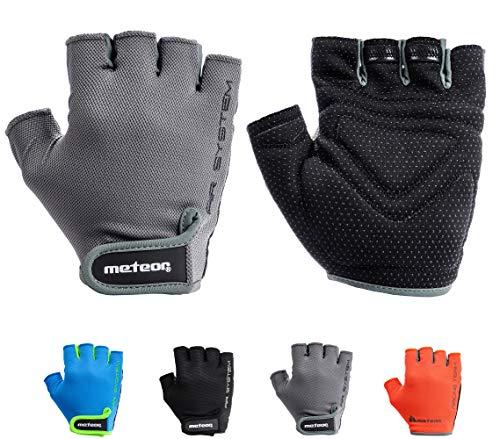meteor Cycling Gloves radhandschuhe MTB Handschuhe Herren Gel fahrradhandschuhe Mountainbike Radsport Damen Radsport-Handschuhe Downhill Fahrrad Handschuhe Kinder (JR XS, Flow 11)