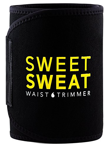Sports Research Sweet Sweat Premium Waist Trimmer (Yellow Logo) for Men & Women. Includes Free...