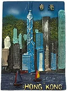 3D冷蔵庫用マグネット、香港の観光記念品、観光の魅力冷蔵庫用マグネット、クリエイティブホーム&キッチンデコレーション