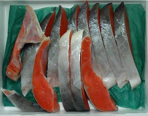 アラスカ産 天然紅鮭 甘塩 半身 1kg 切り身