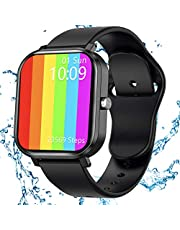 JAMSWALL Smartwatch, Orologio Fitness Tracker Donna Uomo Smart Watch da 1,75 pollici, Activity Tracker Contapassi Calorie Cardiofrequenzimetro da Polso, Smartwatch moda Impermeabile per Android iOS