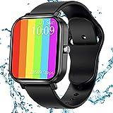 JAMSWALL Smartwatch, Reloj Inteligente Mujer Hombre con Pantalla Grande de 1,75 Pulgadas, Pulsómetro, Cronómetros, Calorías, Monitor de Sueño, Podómetro,Impermeable Smartwatch de Moda para Android iOS