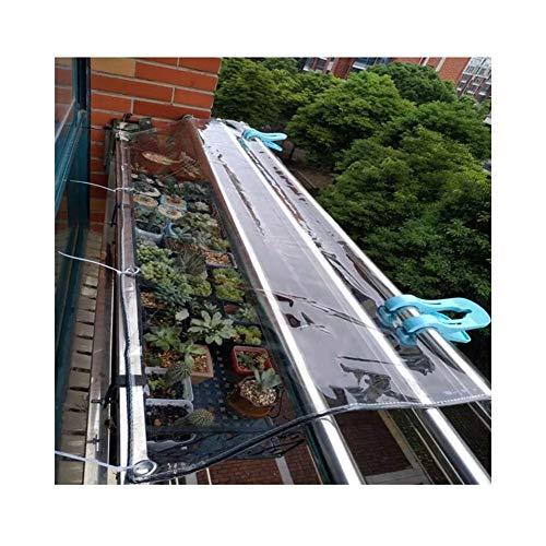 ALGFree Plane Fenster Regenschutz Regentuch Transparent Regenfest Draussen Balkon Decke, 16 Größen (Color : Clear, Size : 1.4x3m)