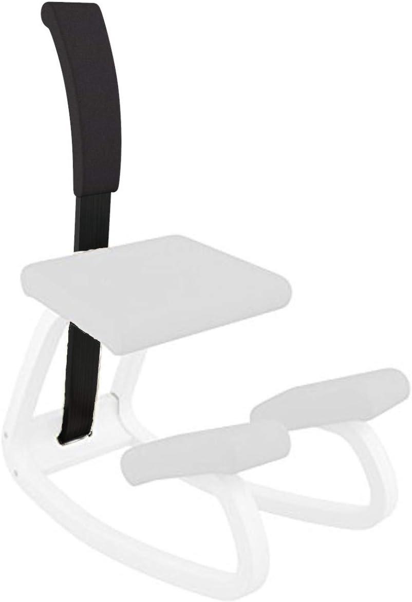 Varier Variable Padded Backrest (Black Revive Fabric with Black Wood)