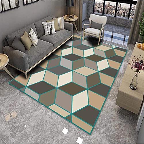 Alfombra antideslizante para dormitorio, 60 x 90 cm, cómoda alfombra para yoga, para niños, sala de estar, dormitorio, alfombra duradera, no se desprende, alfombra de jardín, alfombra de patio (cubo)