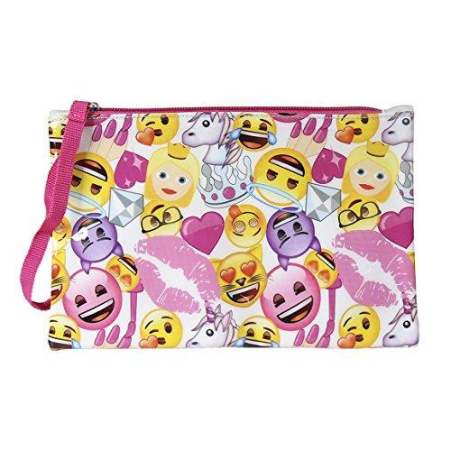 Emoji Estuche portatodo Plano, Multicolor, 22 cm (Artesanía Cerdá 2100001740)