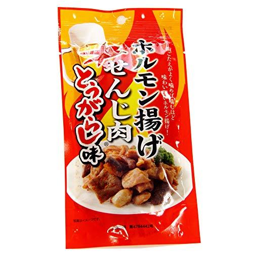 【広島名産】 ホルモン揚げ せんじ肉 とうがらし味 1袋40g 【大黒屋食品】