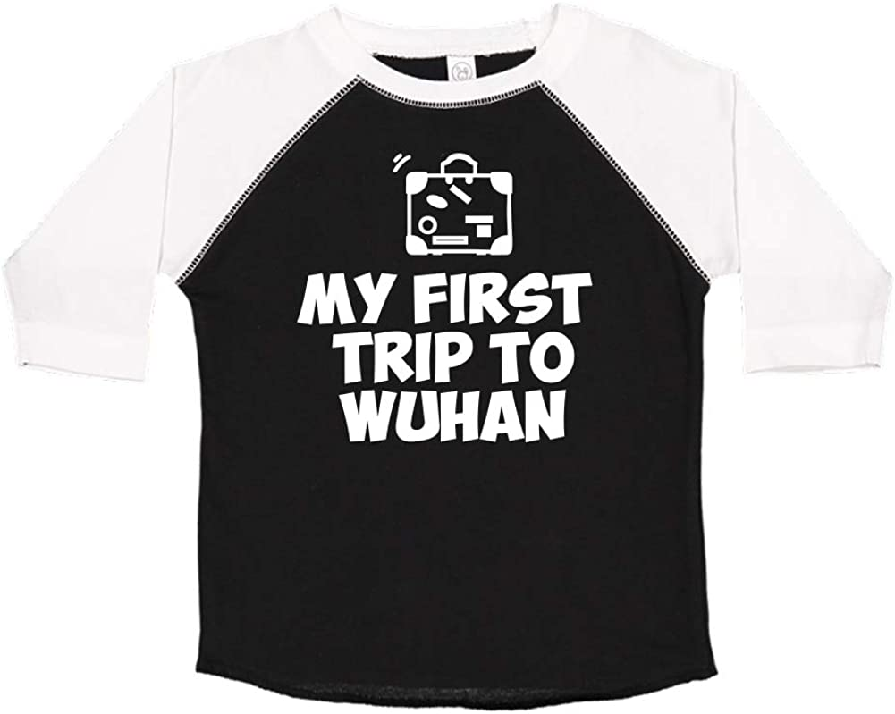 Mashed Clothing My First Trip to Kolkata Toddler//Kids Raglan T-Shirt